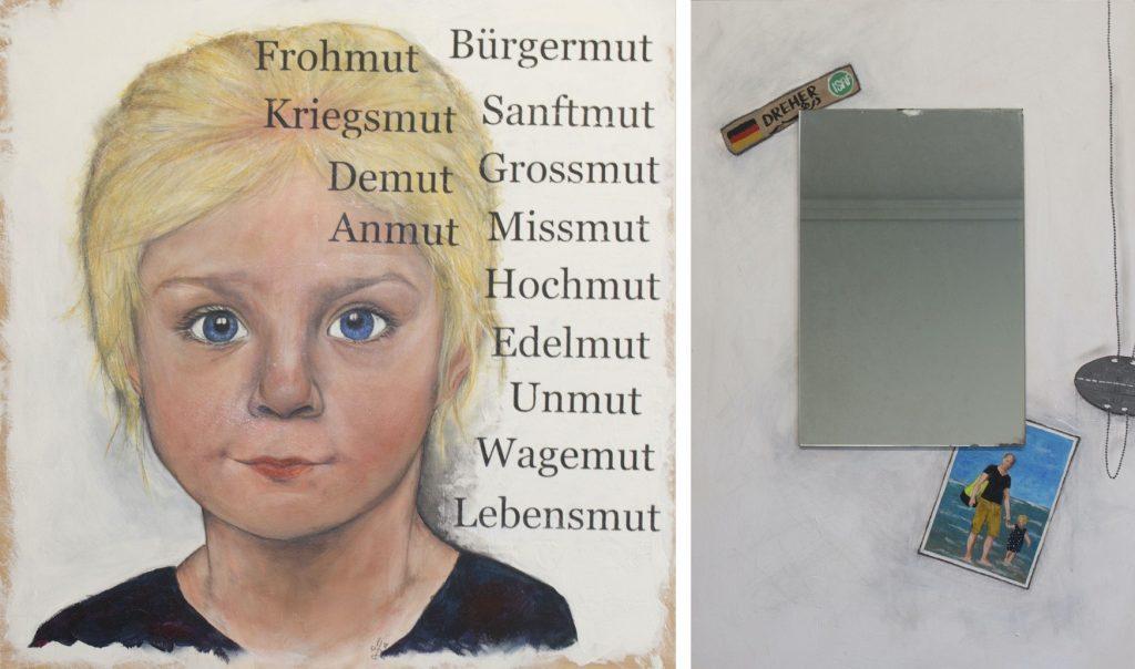 """Der 1. Platz: Manuela Dreher. Das zweiteilige Bild """"Was der Mensch sät…"""