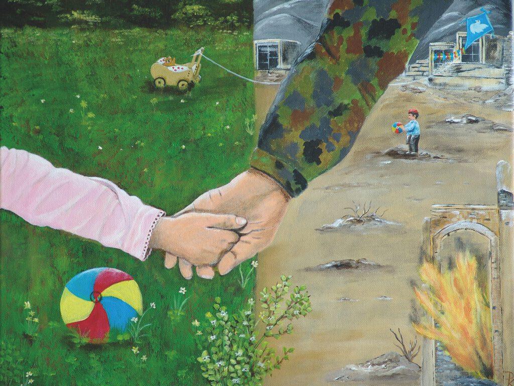 Dagmar Ronczka | Damit Ihr spielen könnt… | Malerei. 50 x 40 cm