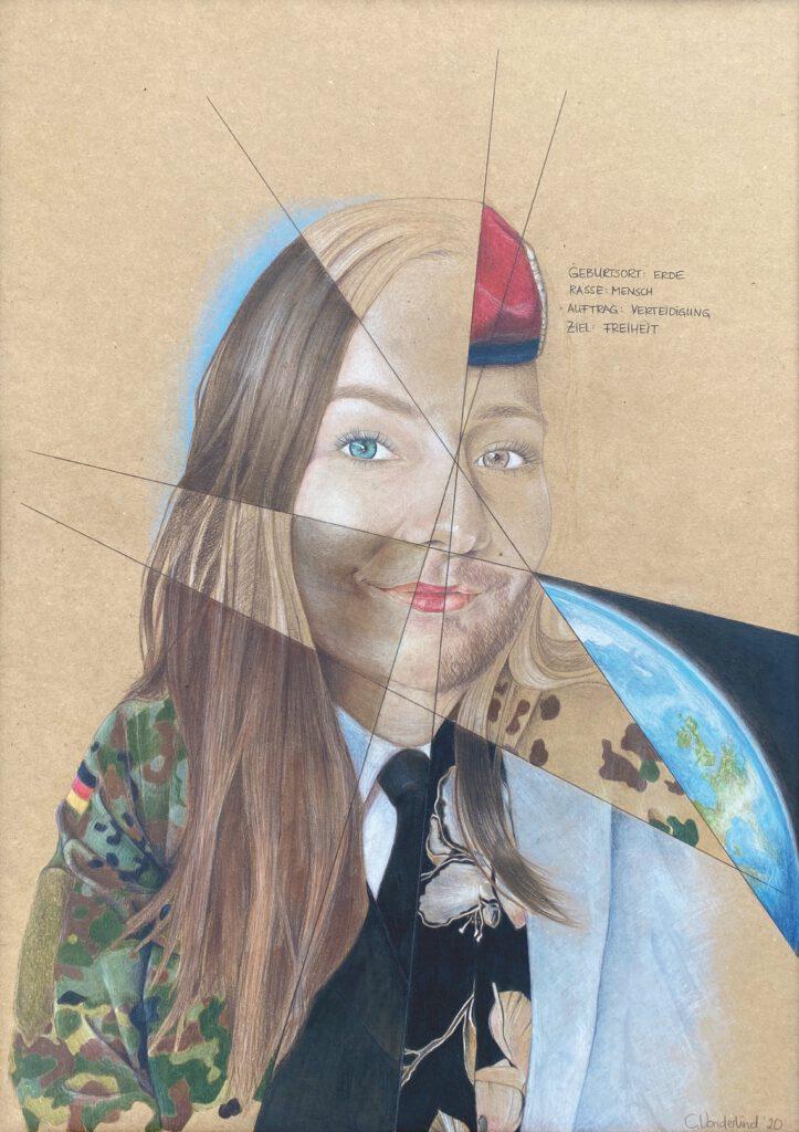 1. Preis. Cornelia Vonderlind. Zwischen Vielfalt und Einheit. Zeichnung. 50 x 70 cm