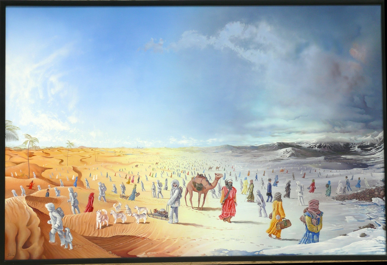 3. Preis: Norbert Böhm |Multinationalität/ Begegnungen | Malerei. Öl auf Leinwand. 150 x 100 cm