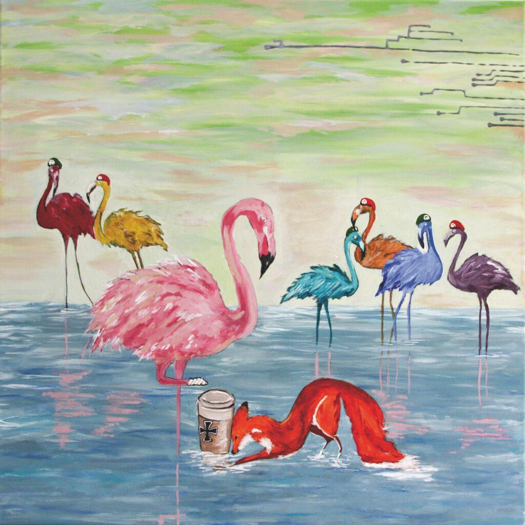 4. Preis. Sigrid Brozek. Vielfalt trotz Gleichheit. Malerei. 70 x 70 cm