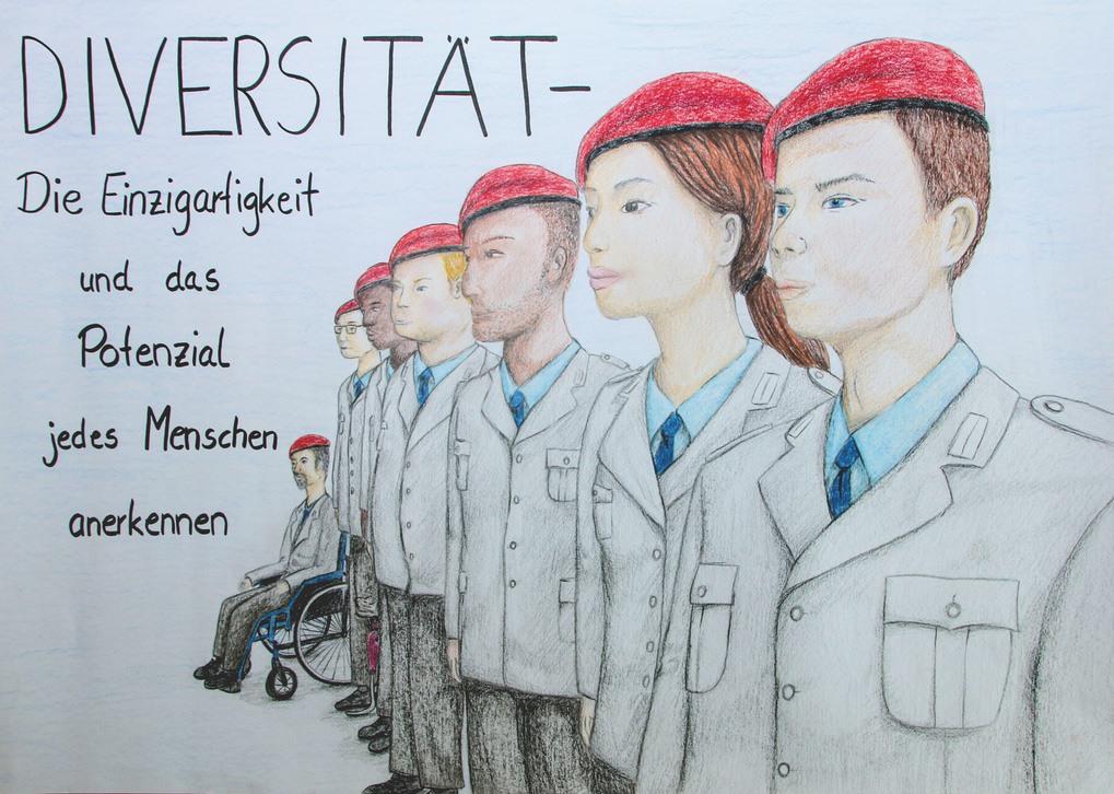 5. Preis. Daniel Müller. Diversität. Zeichnung. 70 x 50 cm