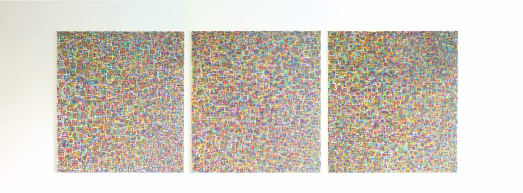 5. Preis. Franz Feigl. 1.100.1. Malerei. Dreiteilig je 90 x 100 cm