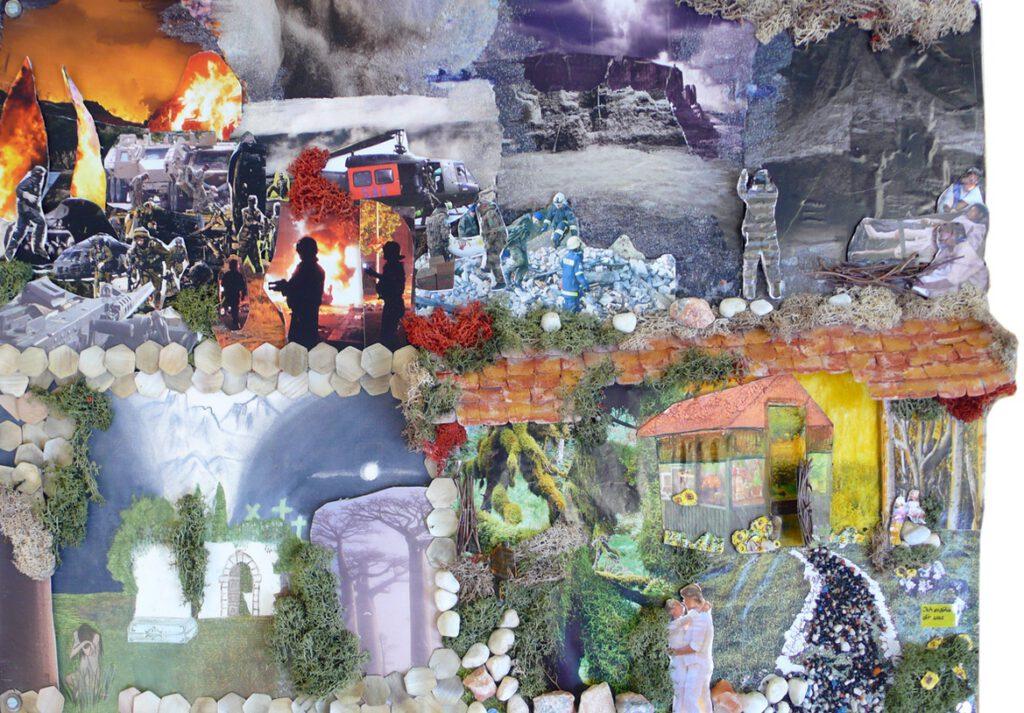 5. Preis: Klaudia Barthelmes-Schreiber | Ich erzähle dir was | Collage